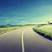 Asphalt road in Tuscany wallpaper